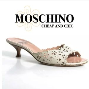 Moschino Shoes - MOSCHINO CHEAP AND CHIC SLIDES/ HEELS SZ 36